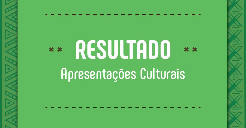 Apresentações Culturais Selecionadas